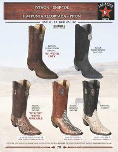 Los Altos Men's Python Snip Toe Western Boots
