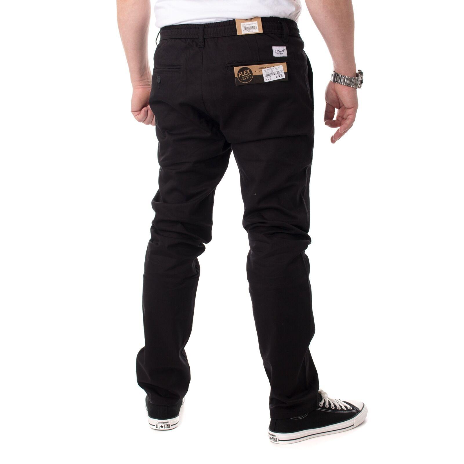 REELL Réflexe facile couleur pantalon de Loisirs pour hommes, couleur facile noire, 15321 948a4b
