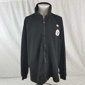 New NFL Men s XL Pittsburgh Steelers Black Fleece Embroidered Zip ... 888e137d1
