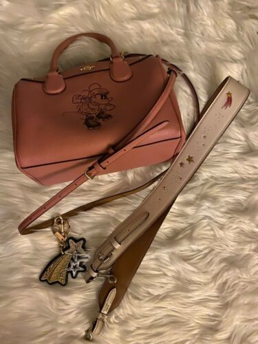 Coach X Disney Minnie Mouse Vintage Pink Mini Benn