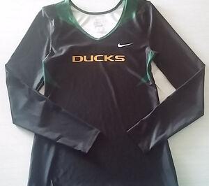 Oregon-Ducks-Womens-Sport-Long-Sleeve-Shirt-Nike-Dri-Fit-Medium-Tennis-Cheer