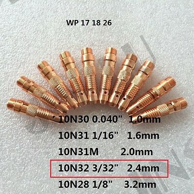 1x Collet for type 17//18//26,10n23d Ø 2,4x52 mm WIG//TIG Welding Accessories #