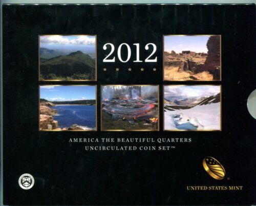 U.S.MINT 2012 P/&D Uncirculated America The Beautiful National Park Quarters Set