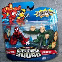 Hasbro Marvel Superhero Squad Series 15 Mini 3 Inch Figure 2-Pack Spider-Man and Vulture Toys