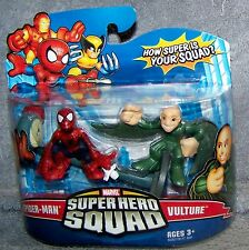 SUPER HERO SQUAD 2009 MARVEL SPIDER-MAN & VULTURE SET