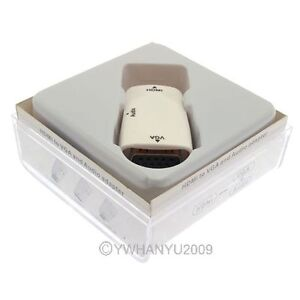 White-HDMI-female-to-VGA-Converter-Adapter-1080P-With-Audio-Cable-For-PC-TV
