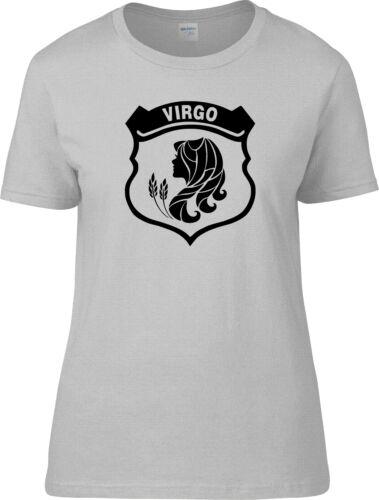 Virgo Starsign Star Sign Ladies Glitter Bling T Shirt