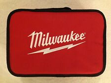 """New Milwaukee M12 13"""" x 9"""" x 3"""" Contractors Tool Bag with Inside Pocket"""