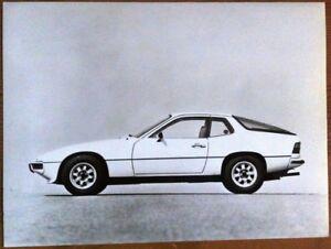 PORSCHE-924-PRESS-PHOTOGRAPH-CIRCA-1978-BLACK-amp-WHITE
