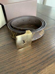 05bbd516d863 Image is loading Authentic-Louis-Vuitton-Brown-Monogram-Canvas-Ceinture-Men-