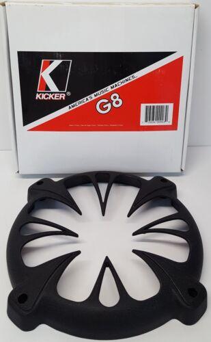 "KICKER 01G8 FG único coche 8/"" Redondo Fundido Biela Subwoofer parrilla negro nos #"