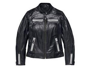 Harley-Davidson-Women-039-s-Zardar-Perforated-Leather-Jacket-97012-18EW-MEDIUM