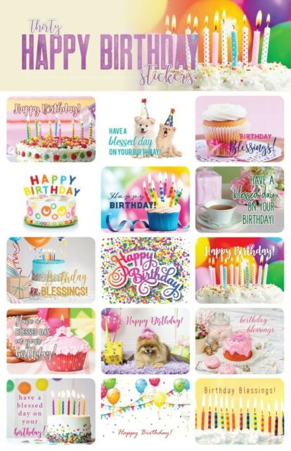 Craft Stickers Birthday Scrapbooking Supplies Scrapbook Stickers Happy Birthday Stickers 3D Stickers Scrapbook kit