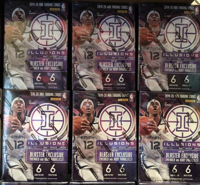 2019-20 Panini Illusions Basketball NBA Blaster Box Lot Of 6 Sealed New
