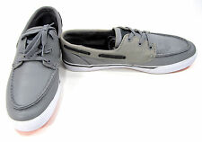 LaCoste Boat Shoes Keel Mov SPM Leather Gray/Brown Topsiders Size 11 EUR 44.5