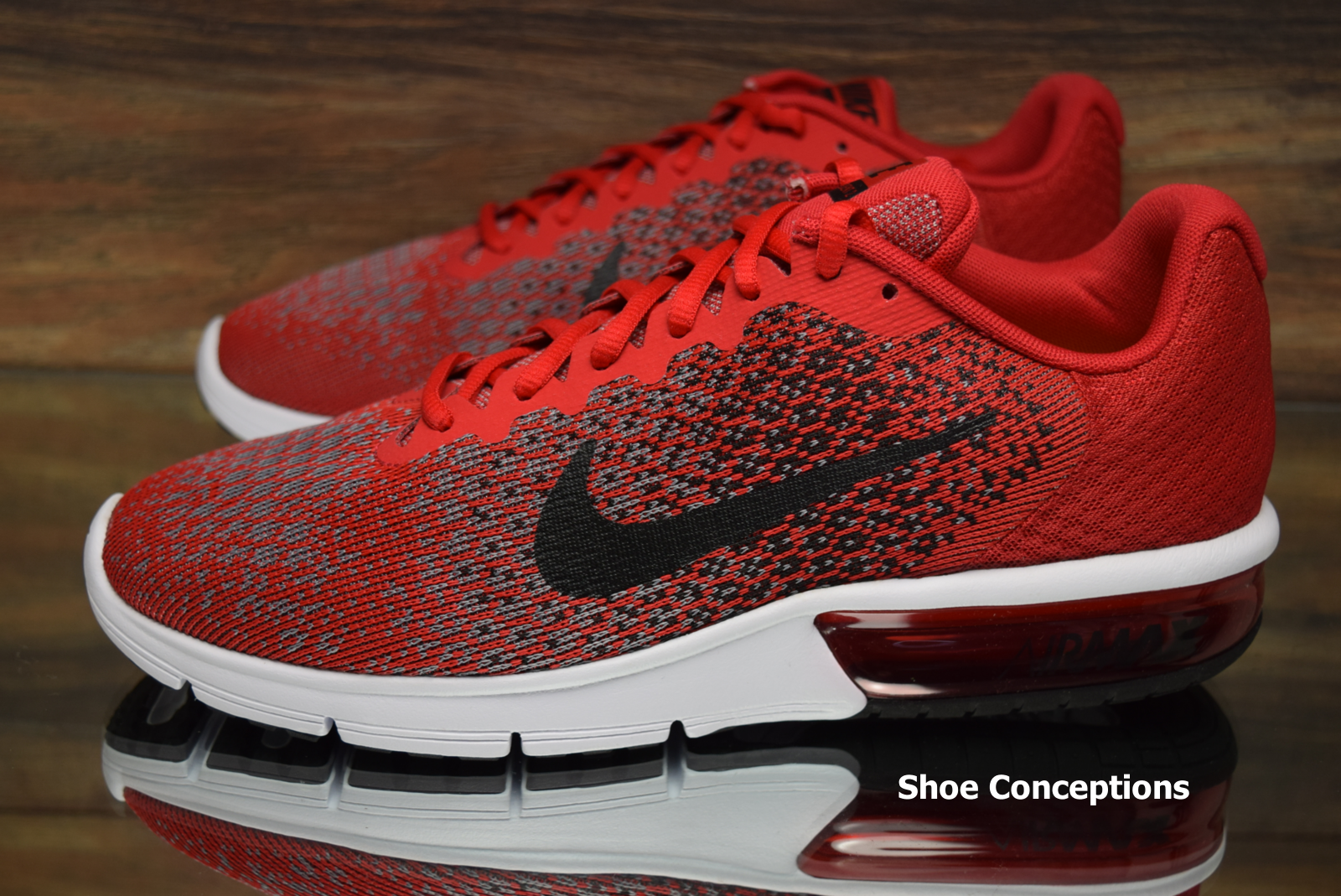b8d99fa4ed5ad ... Nike Air Max Sequent Sequent Sequent 2 Red Black 852461-600 Running  Shoes Men s ...