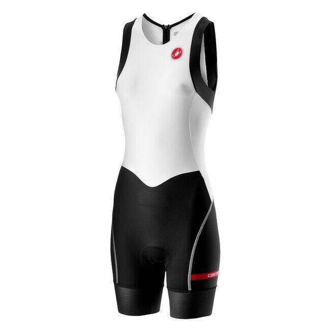 Castelli ciclismo para mujer corta distancia de W Tri Traje blancooo Negro Pequeño S