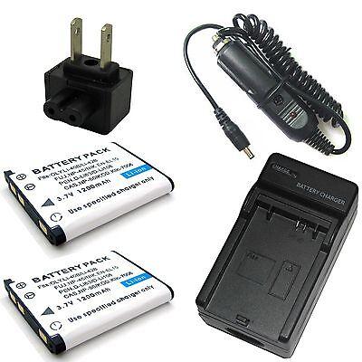Batería cargador F Casio Exilim ex-zs100//ex-zs150//ex-z115//ex-zs200 cargador
