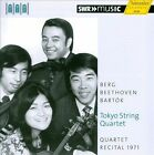 "Toyko String Quartet Plays Berg, Beethoven & Bart¢k (CD, Apr-2013, H""nssler Classic)"