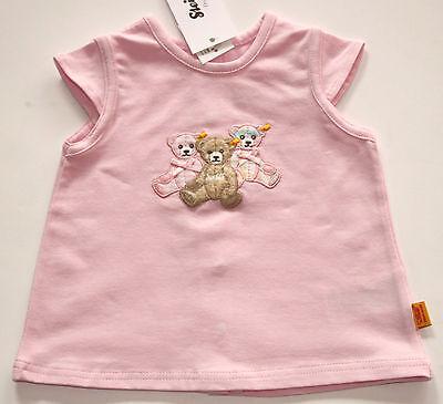 STEIFF T - Shirt, 1/4-Arm, rosa, Teddyapplikation, 62 - 86,  Sommer 2013