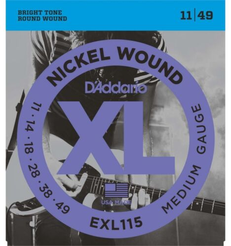 D/'Addario EXL115 Jeu de cordes guitare électrique rock 11-49