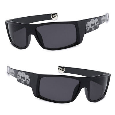 Checker Black Locs Cholo Gangster Motorcycle Biker Men Sunglasses LC77
