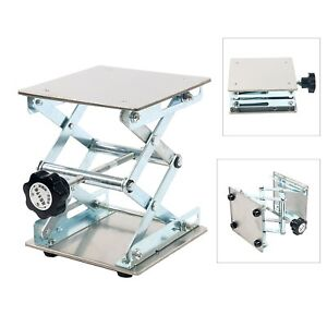 6-039-039-Stainless-Steel-Lab-Stand-Table-Scissor-Lift-laboratory-Jiffy-Jack-150-150mm