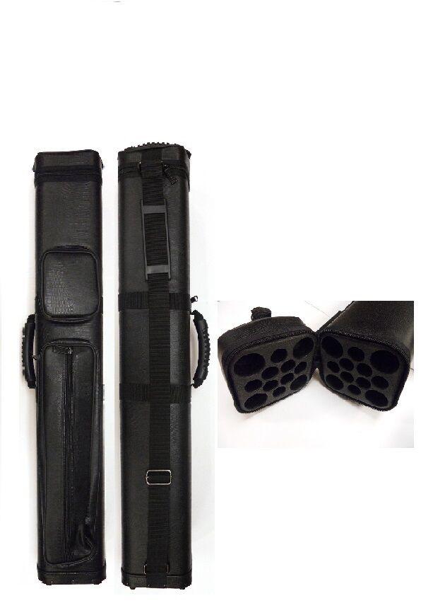 Nieuw 4x8 model C48 zwart Hard Cue Case --Holds 4 Cues Licht gewicht