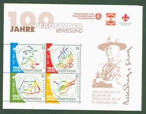 Osterreich-2007-Vollstempel-Pfadfinder-Baden-Powell-Scouting-Block-36