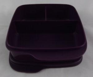 Tupperware-Clevere-Pause-Lila-Violett-Dunkel-550-ml-Lunchbox-Dose-Buechse-Neu-OVP