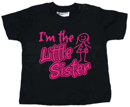 "Dirty Fingers Cute Baby T-shirt /""I/'m the Little Sister/"" Newborn Gift Girl Top"