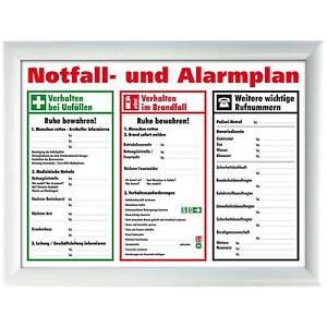 Warnschild Alarmplan Zum Sofort Download