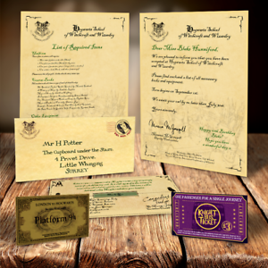 PERSONALISED HOGWARTS CHRISTMAS ACCEPTANCE LETTER XMAS FOR UNDER THE TREE