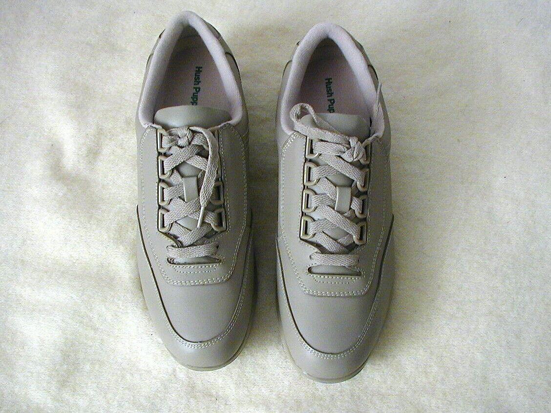 NIB Women's Hush Puppies Leather Classic Walkers Size 10 EW Stone H57607