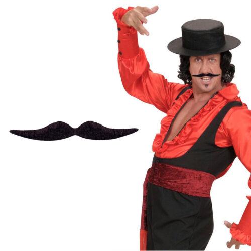 Schnurrbart Dali schwarz Karneval Bart Moustache Oberlippenbart zum Ankleben