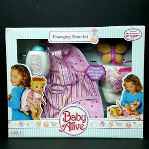 NEW-Baby-Alive-Changing-Time-Set-Carrier-Backpack-Powder-Bottle-Butterfly-Diaper