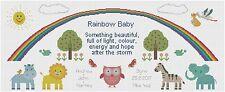 Rainbow Baby Verse Birth Sampler Cross Stitch by Florashell