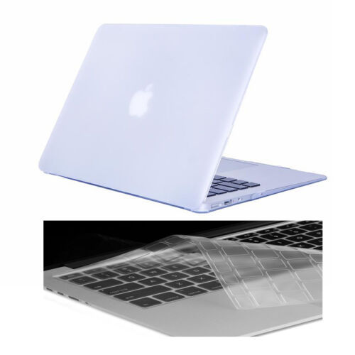 """Keyboard Cover For Macbook White 13/"""" A1342 Rubberized Crystal Hard Shell Case"""