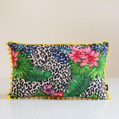 "New Tropical Plants Palm Leaves Parrot Birds Linen Pillow Case Cushion Cover 18/"""