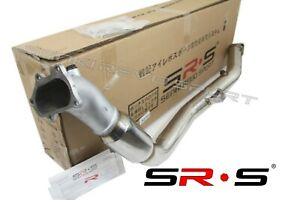 SR-S-3-034-Iron-Cast-Flange-BELL-Mouth-DOWNPIPE-CATTED-WITH-REAL-CAT-FOR-WRX-02-07