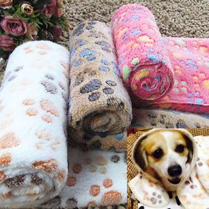 Details about Wholesale Pet Dog Cat Soft Fleece Blanket Warm Paw Print Bed  Mat Pet Supplies
