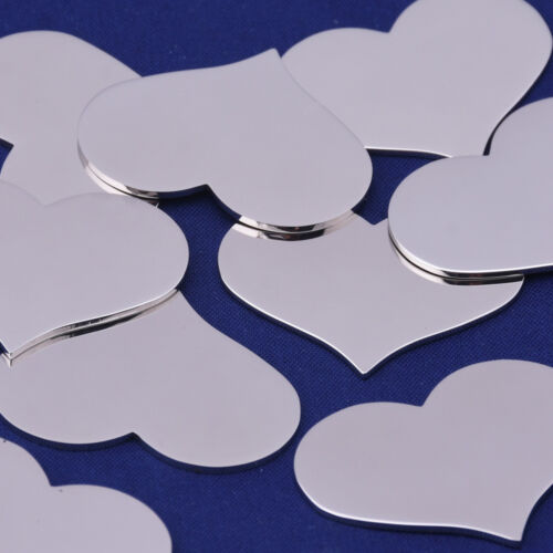 "10pcs about 3//4/"" x 5//8/"" tibetara Stainless Steel Heart Stamping Blank 10124650"