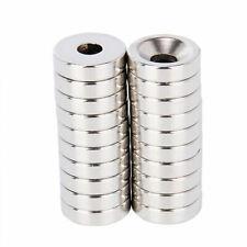 20pcs 15 X 4mm Hole 5mm Round Neodymium Countersunk Ring Rare Earth N50 Magnet