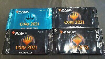 6X MTG Magic The Gathering Core 2021 Foil Promo Pack Sealed Free Shipping