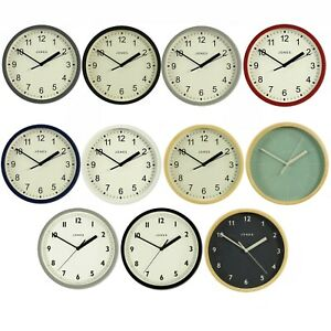 Modern Round Wall Clock For Small Spaces Kitchen Office Jones Clocks 20cm Ebay