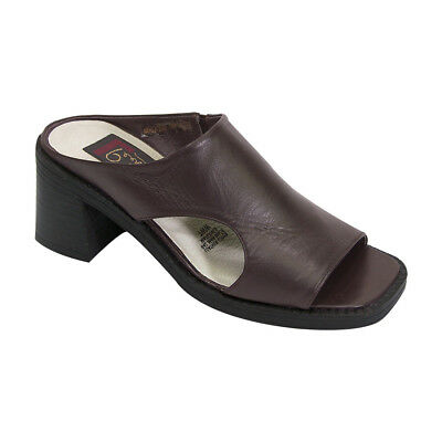 24 Hour Comfort Heather Women Wide Width Classic Casual Leather Dress Skimmer Flat with Floral Cut Design FootwearUS