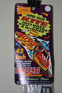 Vintage-1992-Gayla-USA-Racing-Kite-42-Inch-Wingspan-Sealed-New-Nascar-Race-Car