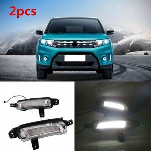 2x-LED-DRL-Daytime-Running-Light-Fog-Lamp-For-Suzuki-Vitara-2015-2016-2017-2018