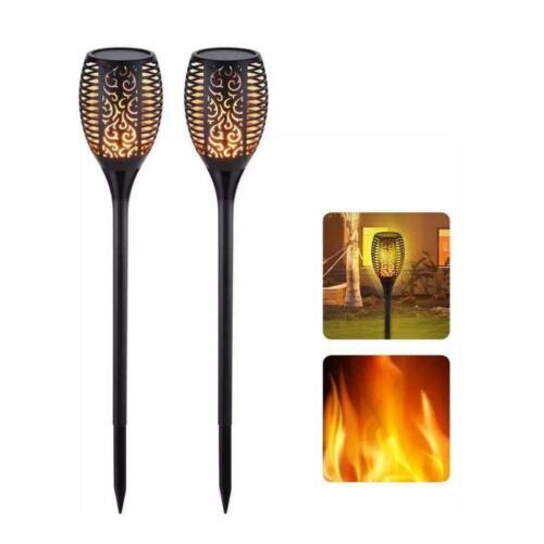 51 LED Flame Solar Torch Light Waterproof Flickering Dancing Path Garden Lamps