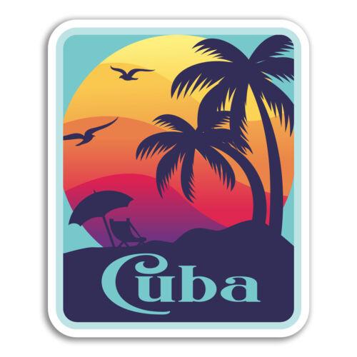 2 X 10cm Cuba Pegatinas De Vinilo-Sunset cubano Pegatina de Viaje Laptop Equipaje #18175
